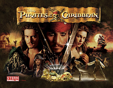 Pirates of the Caribbean Backglass