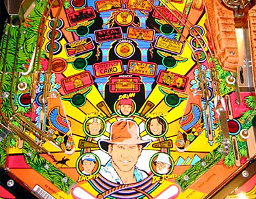 Indiana Jones the Pinball Adventure Lower Playfield