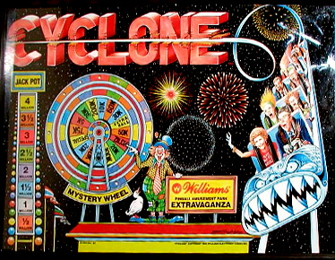 Cyclone Backglass