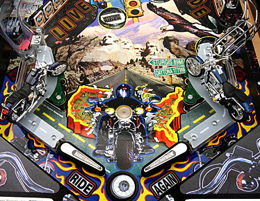 Harley Davidson Lower Playfield