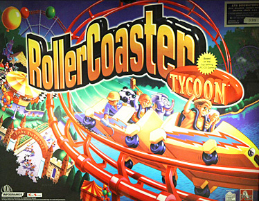 Roller Coaster Tycoon Backglass